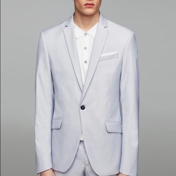 916d5fc7cf NWT Zara MAN Baby Blue Slim Fit Blazer NWT